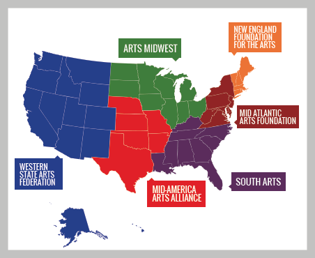 U.S. Regional Arts Organizations Logo