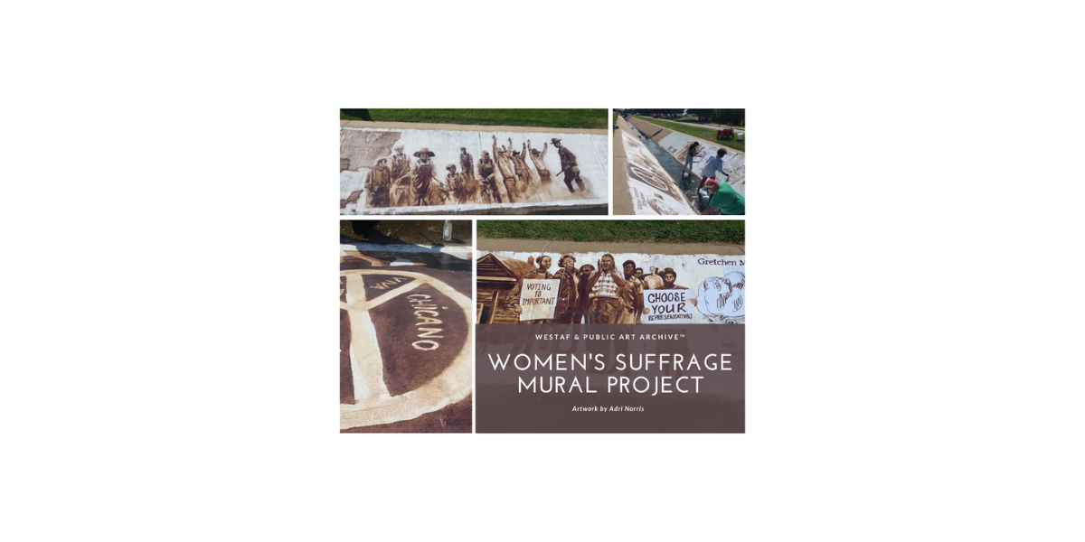 Women's Suffrage Mural Completed by Artist Adri Norris